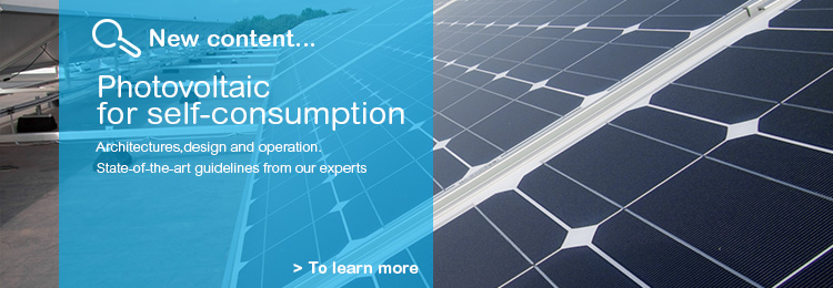 New content on Photovoltaic for self-consumption. Discover it in the wiki.